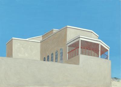 Phyllis Sloane Untitled Santa Fe Balcony Blue Sky