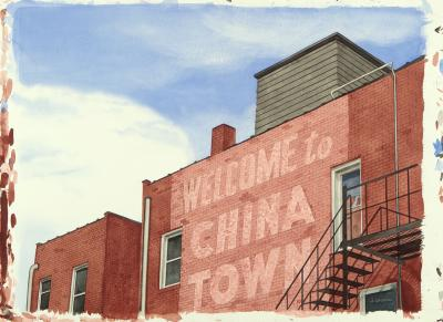Phyllis Sloane Untitled Welcome to Chinatown