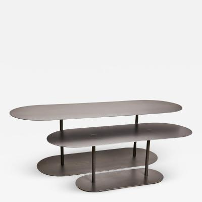 Pia Chevalier Pair of Ellipses Tables Signed by Pia Chevalier