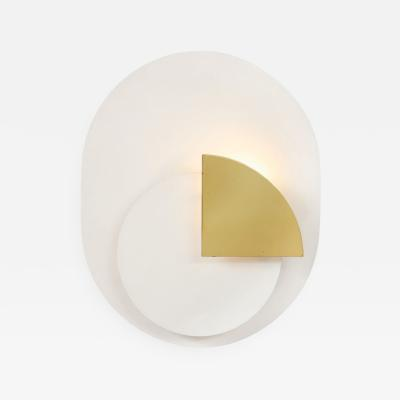 Pia Guidetti Crippa Single sconce in varnished aluminum