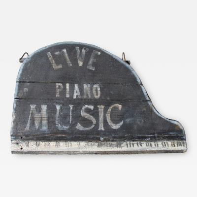 Piano Music Lounge Sign