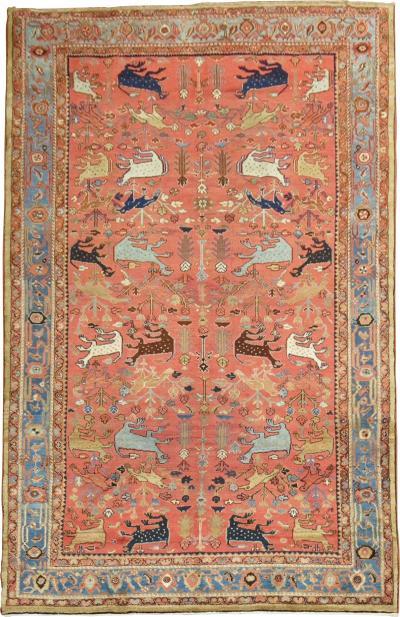 Pictorial Animal Persian Room Rug rug no j1804