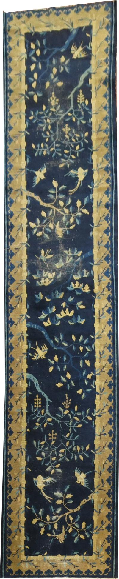 Pictorial Blue Chinese Runner rug no r5047