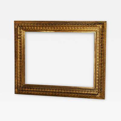 Picture frame 19th century Italian Rococo Gilt Wood with ornate foliate