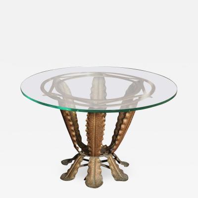 Pier Luigi Colli Iron Cocktail Table by Pier Luigi Colli