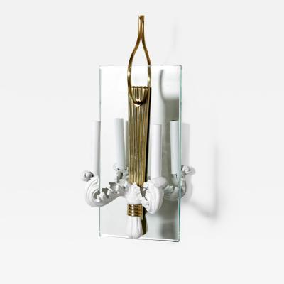 Pier Luigi Colli Lacquered metal brass and glass hall lantern by Pier Luigi Colli