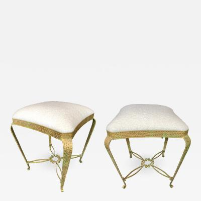 Pier Luigi Colli Pair of Stools Gold Leaf by Pier Luigi Colli Italy 1950s