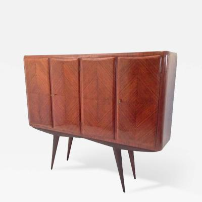 Pierluigi Colli Four Door Mid Century Cabinet on Stand attributed to Pier Luigi Colli