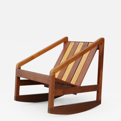 Pierluigi Ghianda Children Italian Rocking Chair to slats by Pierluigi Ghianda 1960s