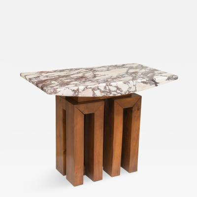 Pierluigi Spadolini Marble and Walnut Table
