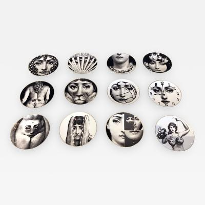 Piero Fornasetti A Set of Twelve Iconic Julia plates by Fornasetti for Rosenthal