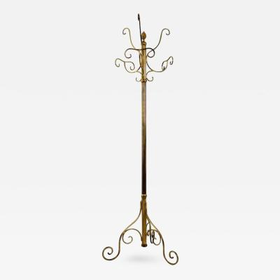 Piero Fornasetti Brass Hat and Coat Rack Ascribable to Piero Fornasetti Italy 1950s