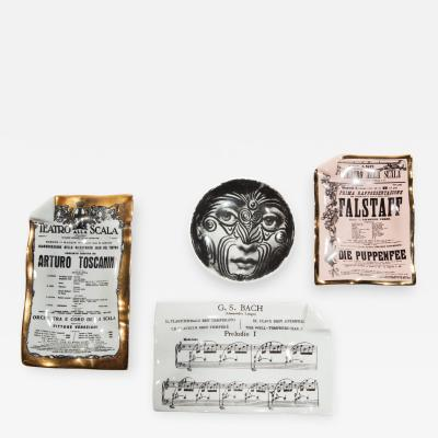 Piero Fornasetti Collection of four objects by Piero Fornasetti circa 1960s