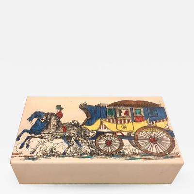 Piero Fornasetti Fornasetti Mid Century Modern Card Box circa 1950