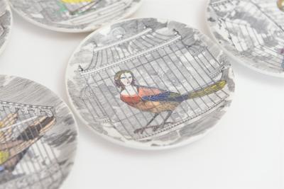 Piero Fornasetti Le Arpie Gentili Coasters by Piero Fornasetti c 1950