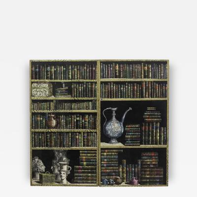 Piero Fornasetti Pair of Doors of a Cupboard Made for a Private Custode 1950