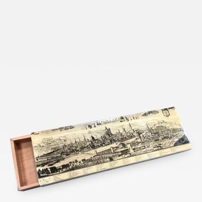 Piero Fornasetti Piero Fornasetti Large Box with an ancient view of Florence Tuscany Italy