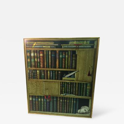 Piero Fornasetti Piero Fornasetti Ornate Book Case Lithograph