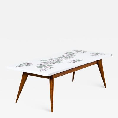 Piero Fornasetti Piero Fornasetti low table with wooden base