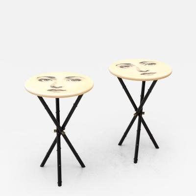 Piero Fornasetti Rare Matching Pair of Side Tables by Piero Fornasetti Italy 1950s