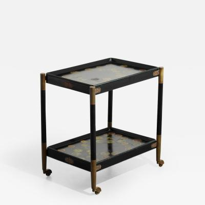 Piero Fornasetti Rare Piero Fornasetti Folding Cart Removable Trays