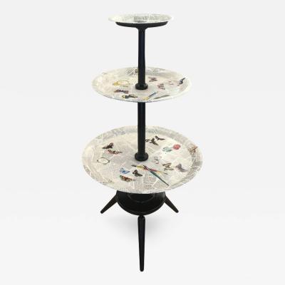 Piero Fornasetti Three Tiered Table By Piero Fornasetti Italy 1955