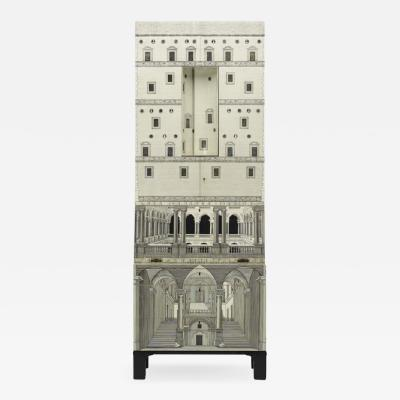 Piero Fornasetti Whimsical lacquered wood cabinet by Piero Fornasetti