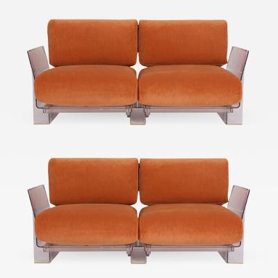Piero Lissoni Pair of Lucite Love Seats Sofas by Piero Lissoni for Kartell