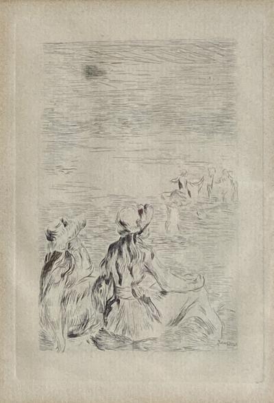 Pierre Auguste Renoir Sur la Plage a Berneval