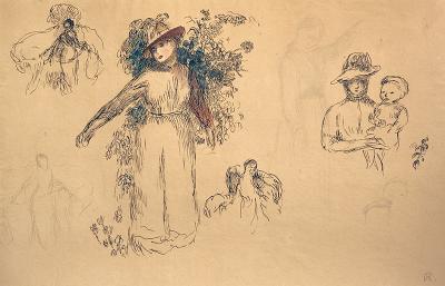 Pierre Auguste Renoir tudes Femme au Jardin