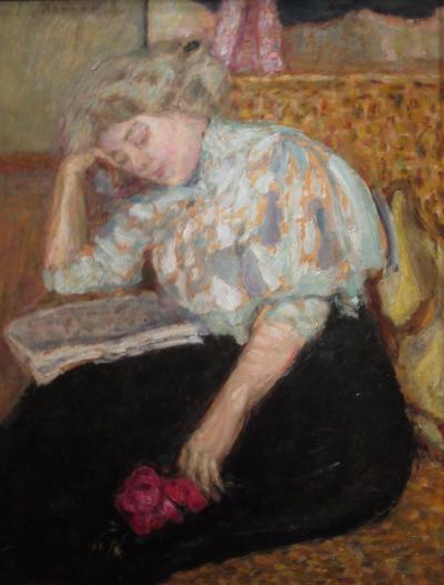 Pierre Bonnard Jeune fille au bouquet