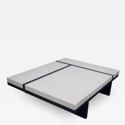 Pierre Bonnefille White and Black Coffee Table by Pierre Bonnefille