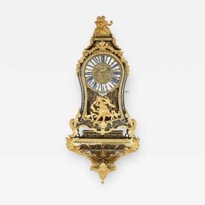 Pierre Brezagez Antique 18th Century Boulle Bracket Clock by Brezagez and Marchand
