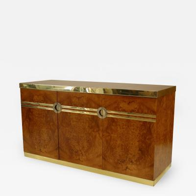 Pierre Cardin 1970s French Burl Walnut Buffet