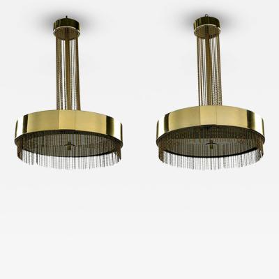 Pierre Cardin A Pair of French Brass Chandelier Ceiling Light Pierre Cardin