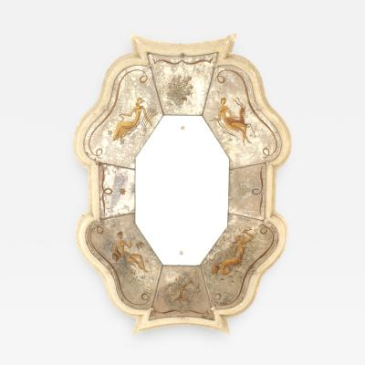 Pierre Cardin French Mid Century Verre glomis Mirror