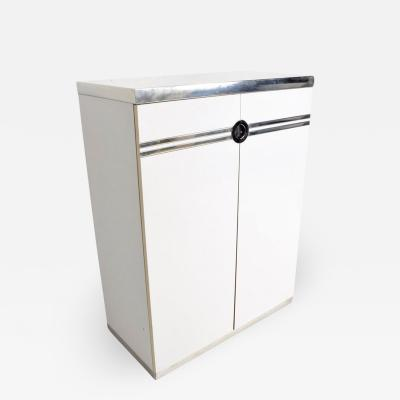 Pierre Cardin Late French designer PIERRE CARDIN Lovely White Wardrobe Cabinet Chest 1970s