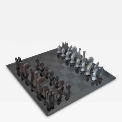 Pierre Cardin Pierre Cardin 1969 Evolution Chess Set with Glass Board