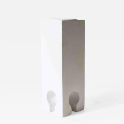 Pierre Cardin Pierre Cardin Environment Porcelain Bisque Vase Italy c 1970