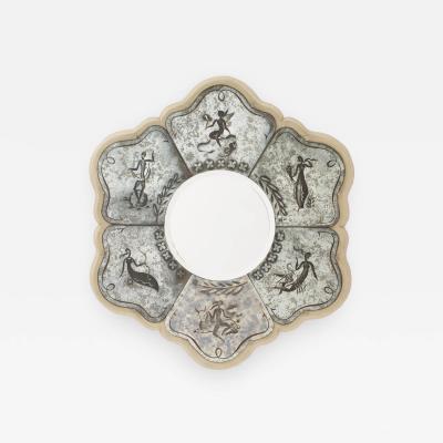Pierre Cardin Pierre Cardin French Mid Century Verre glomis Mirror