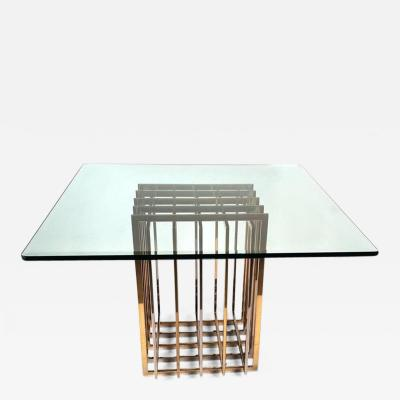 Pierre Cardin Pierre Cardin Mixed Metals Table for Dining Game or Entry
