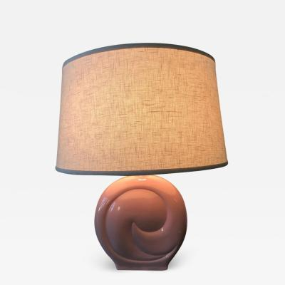 Pierre Cardin Pierre Cardin Pink Porcelain Ceramic Table Lamp