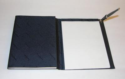 Pierre Cardin Pierre Cardin Vintage Address and Notebook Desk Set with Sterling Silver Cover