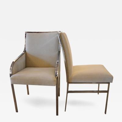 Pierre Cardin S 6 Newly Upholstered W Chrome Frame Mid Century Modern Dining Chairs