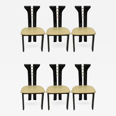 Pierre Cardin Set of Six Dining Chairs by Pierre Cardin