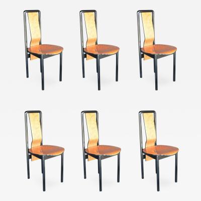 Pierre Cardin Set of Six Pierre Cardin Dining Chairs