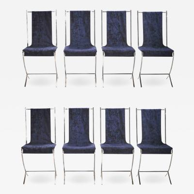 Pierre Cardin Set of eight chairs by Pierre Cardin for Maison Jansen 1970s