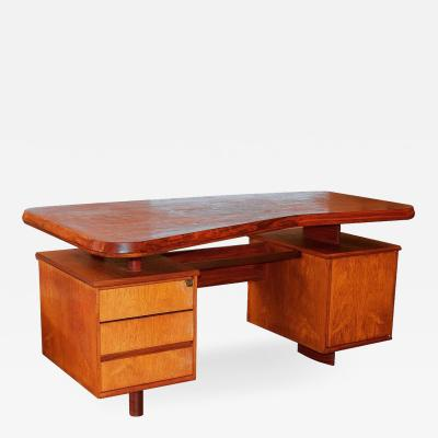 Pierre Chapo A Unique French Modern Solid Rosewood Desk