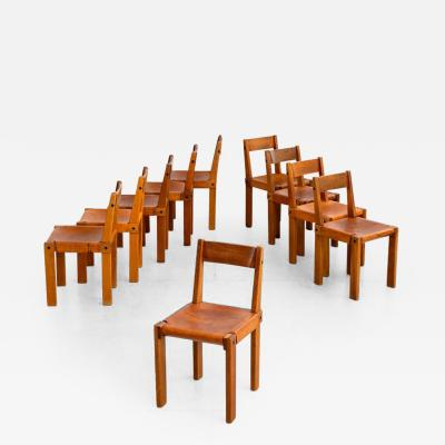 Pierre Chapo PIERRE CHAPO S24 DINING CHAIRS SET OF 10