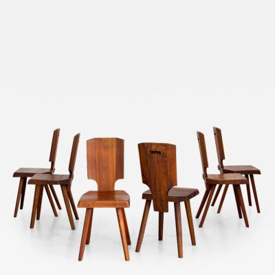 Pierre Chapo PIERRE CHAPO S28 DINING CHAIRS SET OF 6